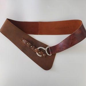 Leatherock Leather Hip Belt with Hook Detail, 38